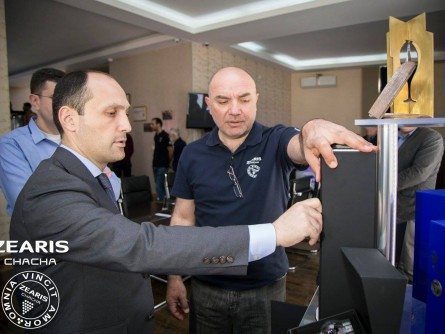 The visit of the Minister of Agriculture, Levan Davitashvili, in the company ZEARIS.